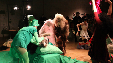 a still from Marvin Gaye Chetwynd's The Green Room