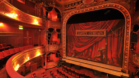 The auditorium at Theatre Royal Stratford East