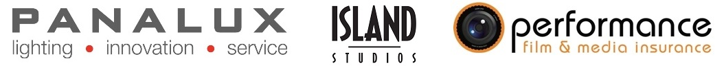 Panalux, Island Studios, and Performance logos
