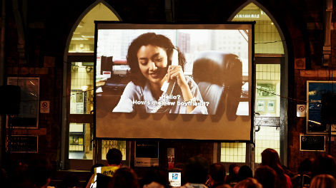 Image of Herne Hill Film Festival outdoor screening