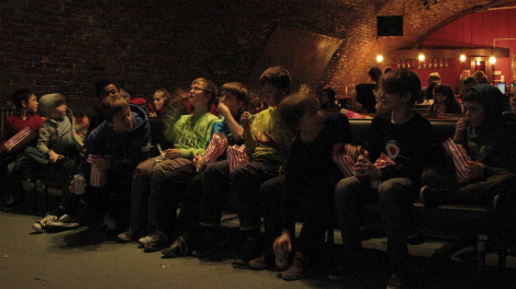 Image of the audience at Kids Whirled, funded by Film Hub London