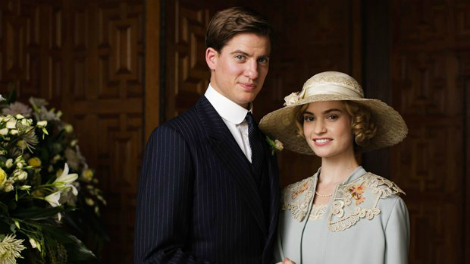 Image of Lady Rose and Atticus Aldridge on their wedding day, filmed in Two Temple Place