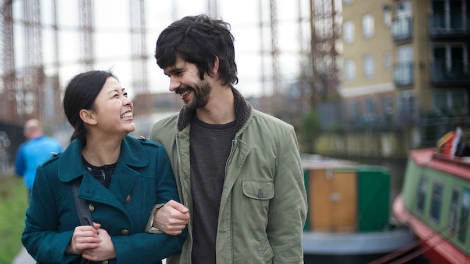 Image of Naomi Christie and Ben Whishaw walk along the the Regent's Canal in Lilting