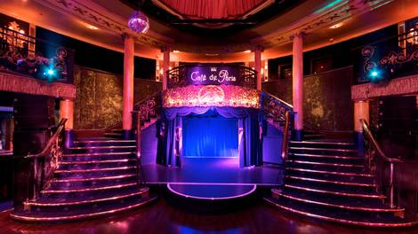 Location of the Month Cafe de Paris central staircase