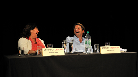 Image of Market Place Live panel members Gurinder Chadha and Barnaby Thompson