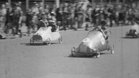 Image of LSA Soap Box Derby children Ilford 1952