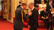 Image of Adrian Wootton OBE investiture ceremony