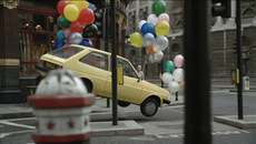 Image of film still advert Ford Mondeo car with balloons