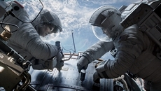 Image of Gravity starring Sandra Bullock and George Clooney