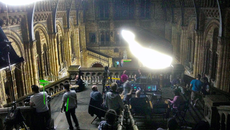 Image of behind-the-scenes production still from Jupiter Ascending at the Natural History Museum
