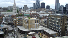Image of The view from the Rooftop of the Old Truman Brewery